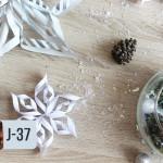 Flocons en papier DIY