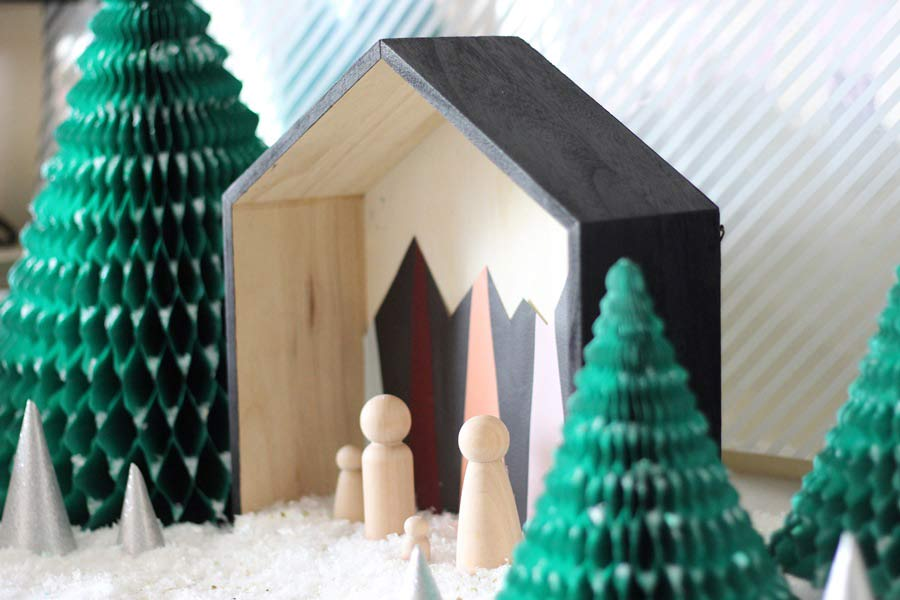 D coration de no l r aliser un diy d 39 une cr che de no l - Idee decoration creche noel ...