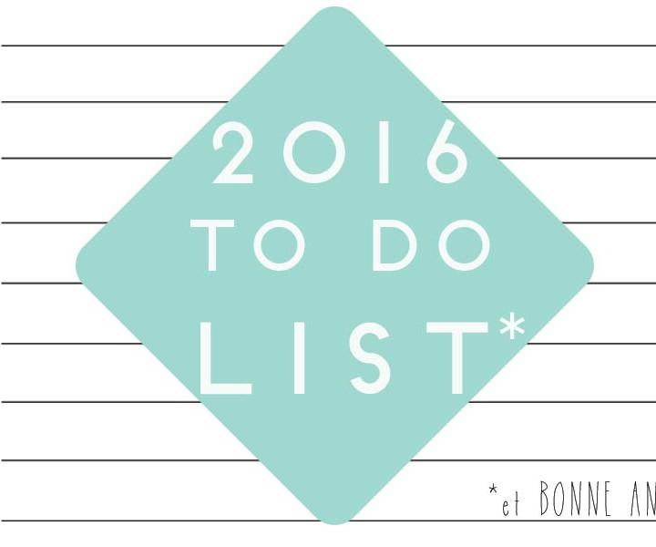 bonnes résolutions de 2016