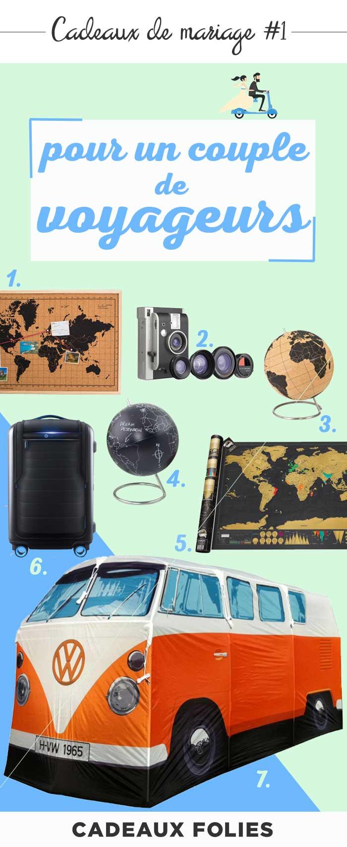 cadeau mariage 7 cadeaux pour un couple de voyageurs. Black Bedroom Furniture Sets. Home Design Ideas