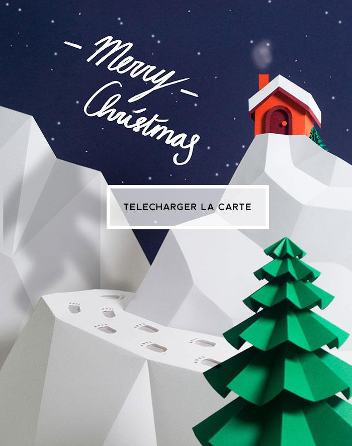 Carte de Noël Printable