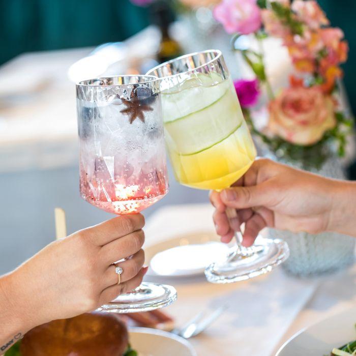 cocktail sans alcool Verre en Superglas de différentes couleurs