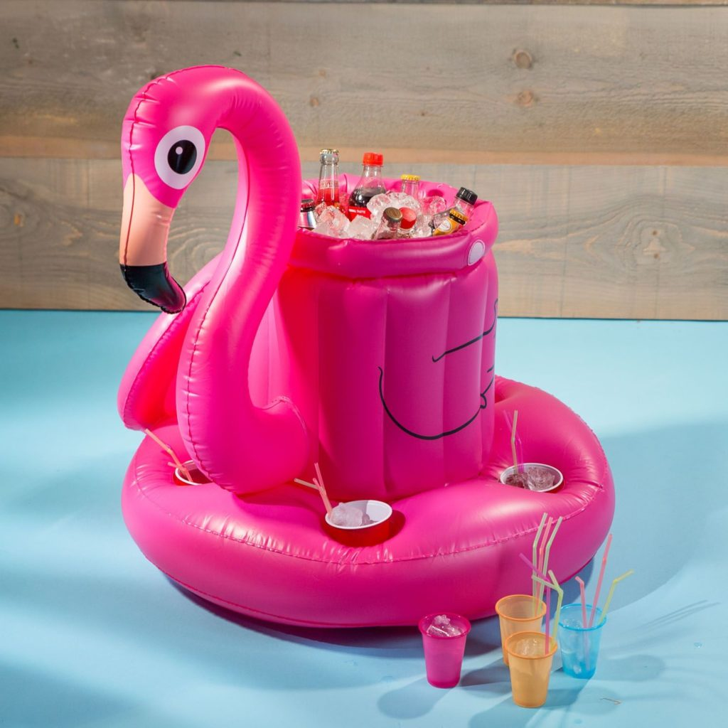 mini-bar flamant rose