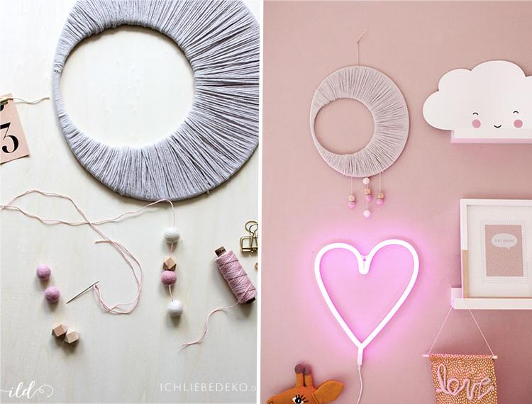 d coration d une chambre d enfant un joli macram diy. Black Bedroom Furniture Sets. Home Design Ideas