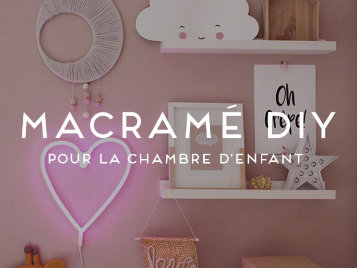 macramé, DIY, décoration chambre d'enfant