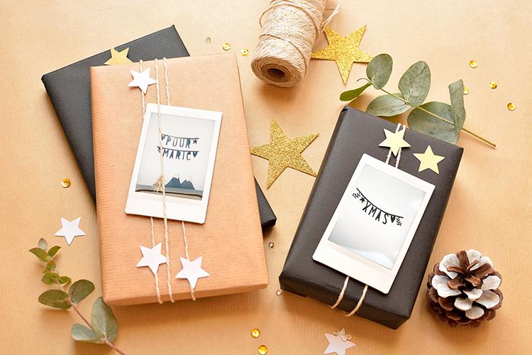 fabrique un magnifique emballage cadeau de no l maison. Black Bedroom Furniture Sets. Home Design Ideas