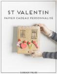 papier cadeau personnalisé st valentin