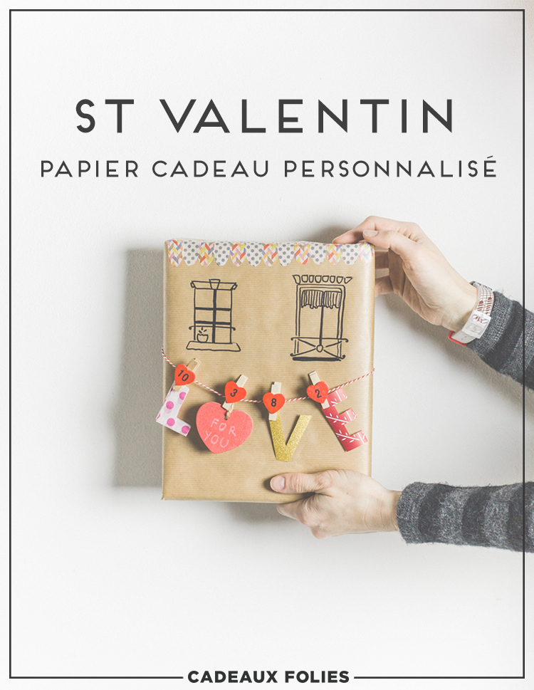 personnalise ton papier cadeau de saint valentin diy. Black Bedroom Furniture Sets. Home Design Ideas