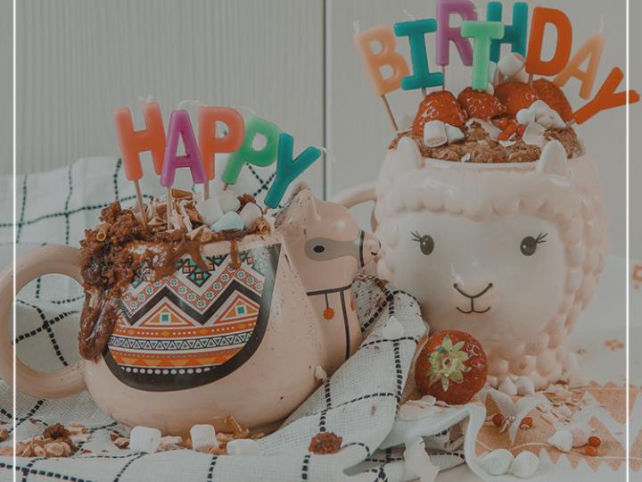 mug cake anniversaire