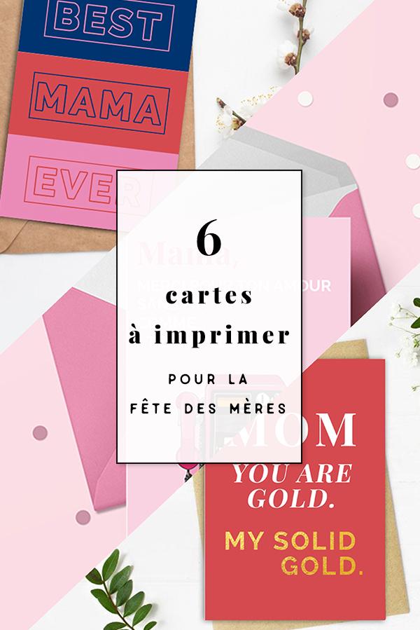 6 Cartes à Imprimer Pour La Fête Des Mères Le Blog De Cadeauxfolies