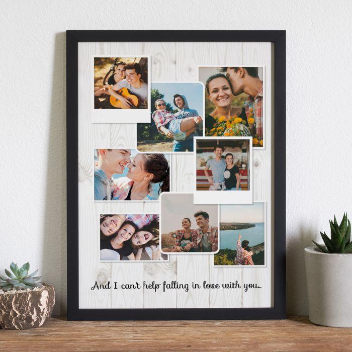 citation mariage Poster Photo Personnalisable - Look Vintage