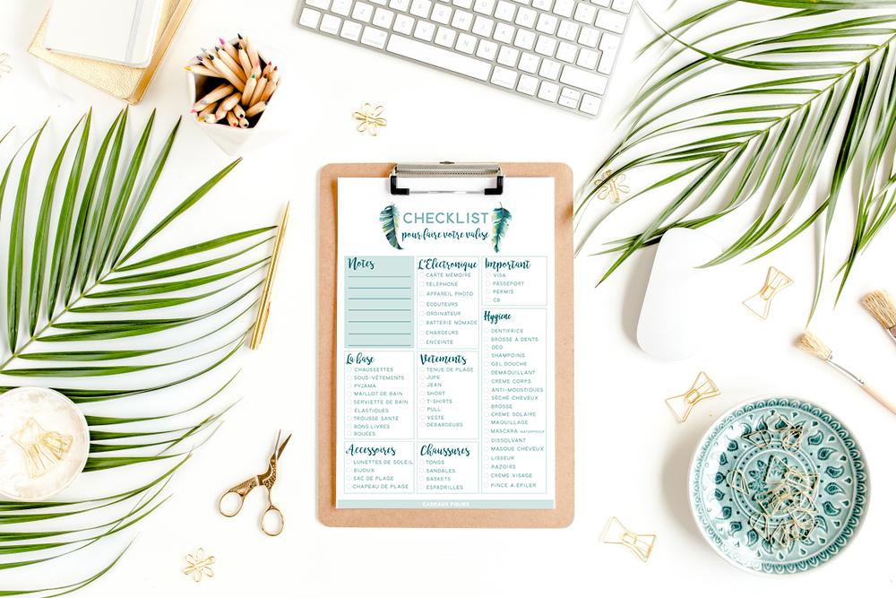 checklist valises
