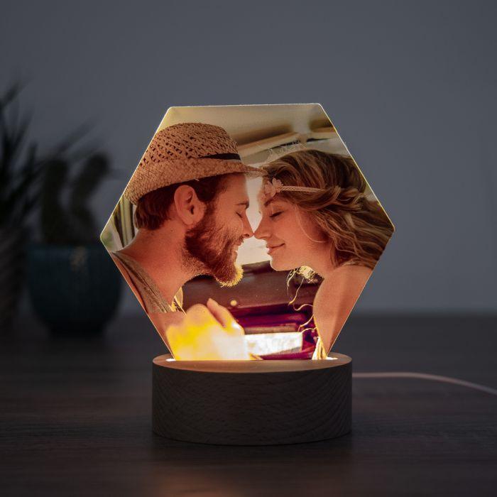 décoration table de mariage Lampe LED avec photo