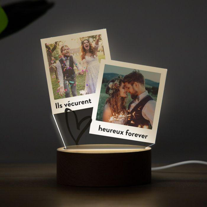 décoration table de mariage Lampe LED design Polaroid