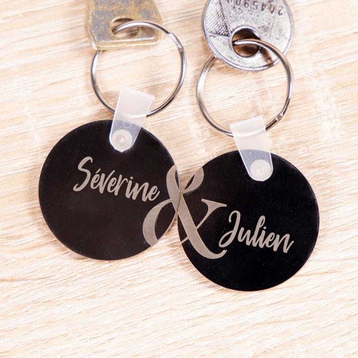décoration table de mariage Lot de 2 porte-clés en acrylique avec texte
