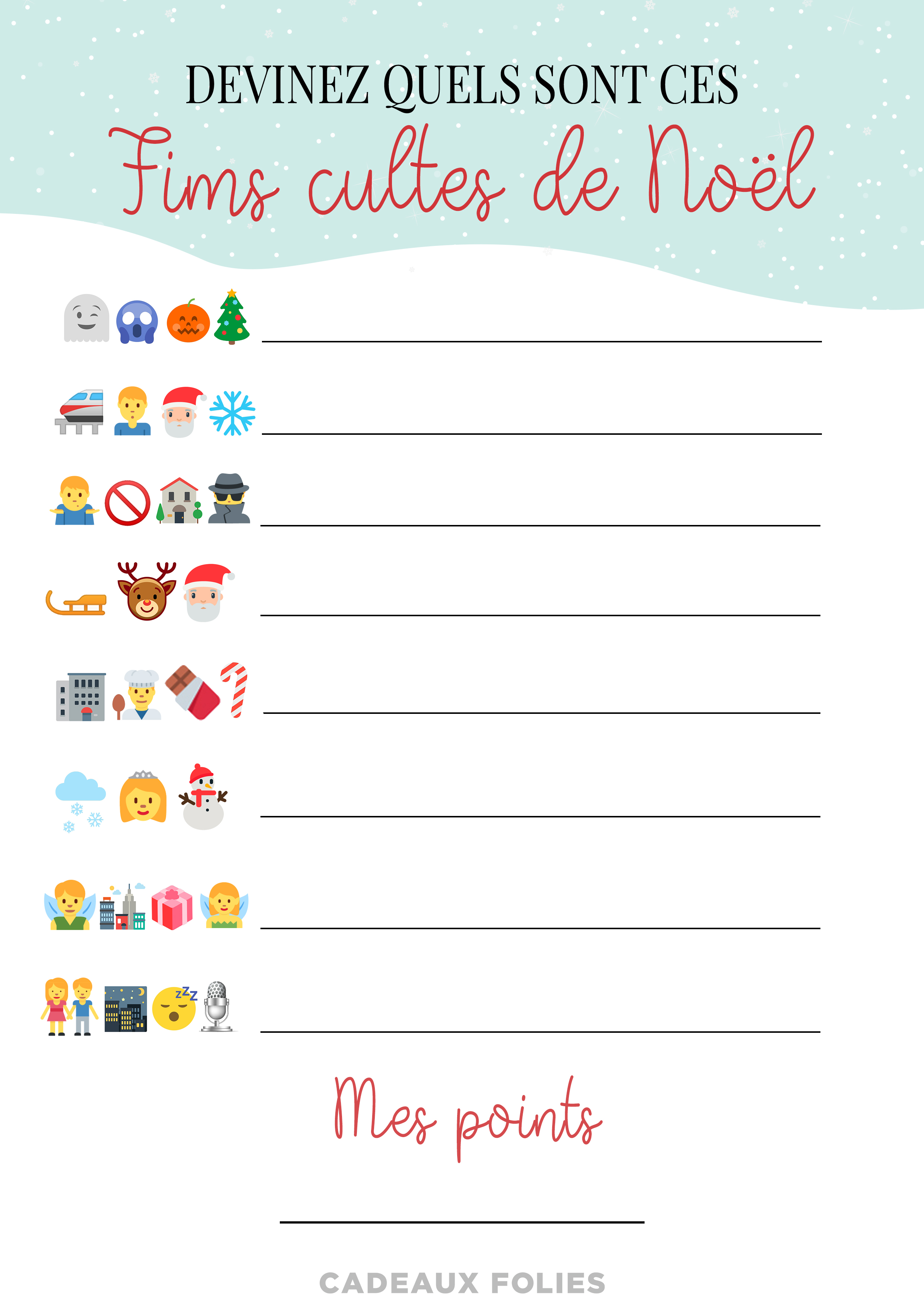 Idée De Jeux En Famille Pour Noel 4 jeux de noël pour petits et grands à imprimer gratuitement