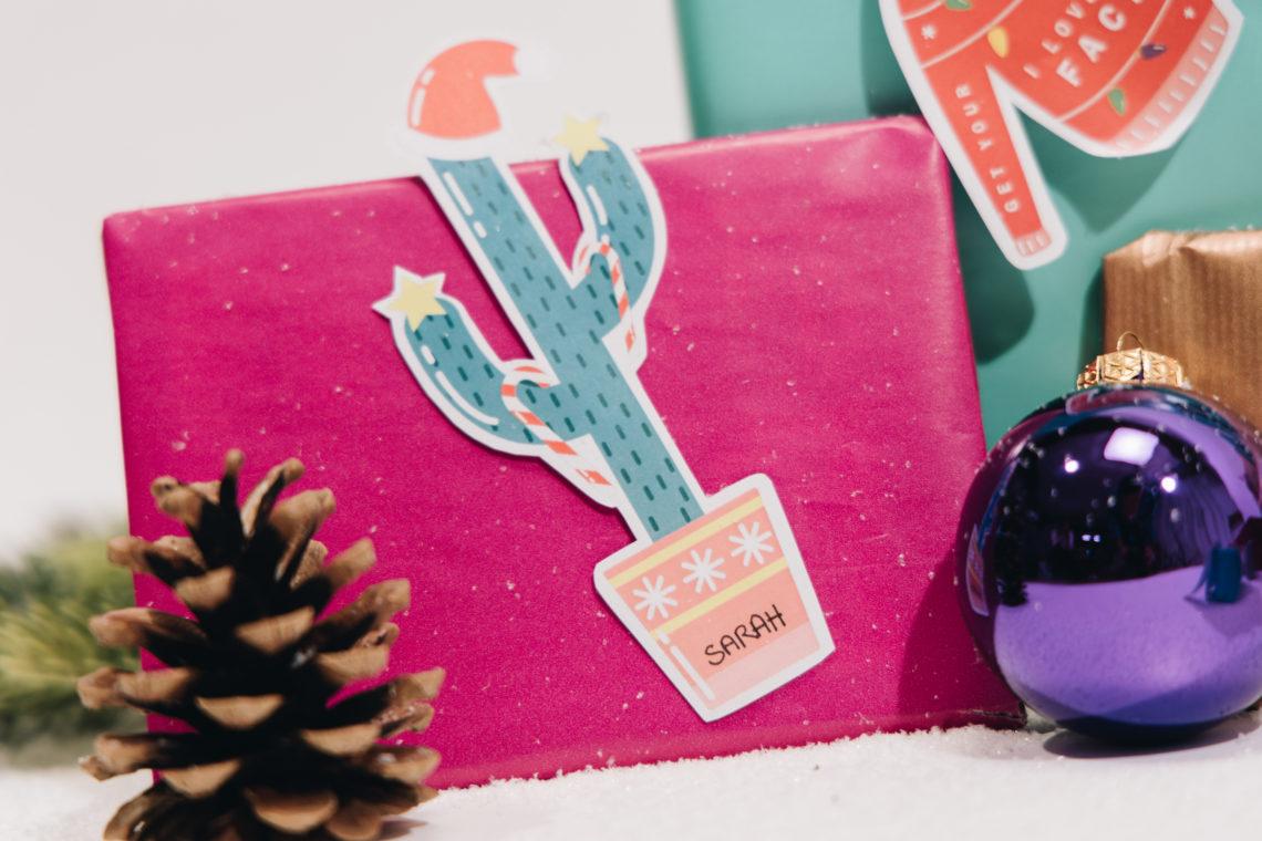 etiquettes cadeaux noel