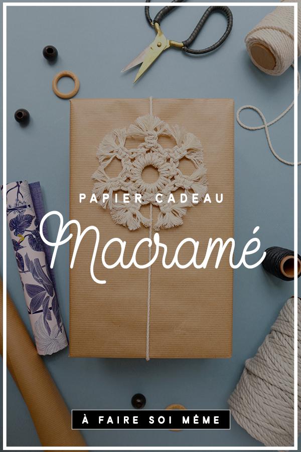 papier cadeau macramé