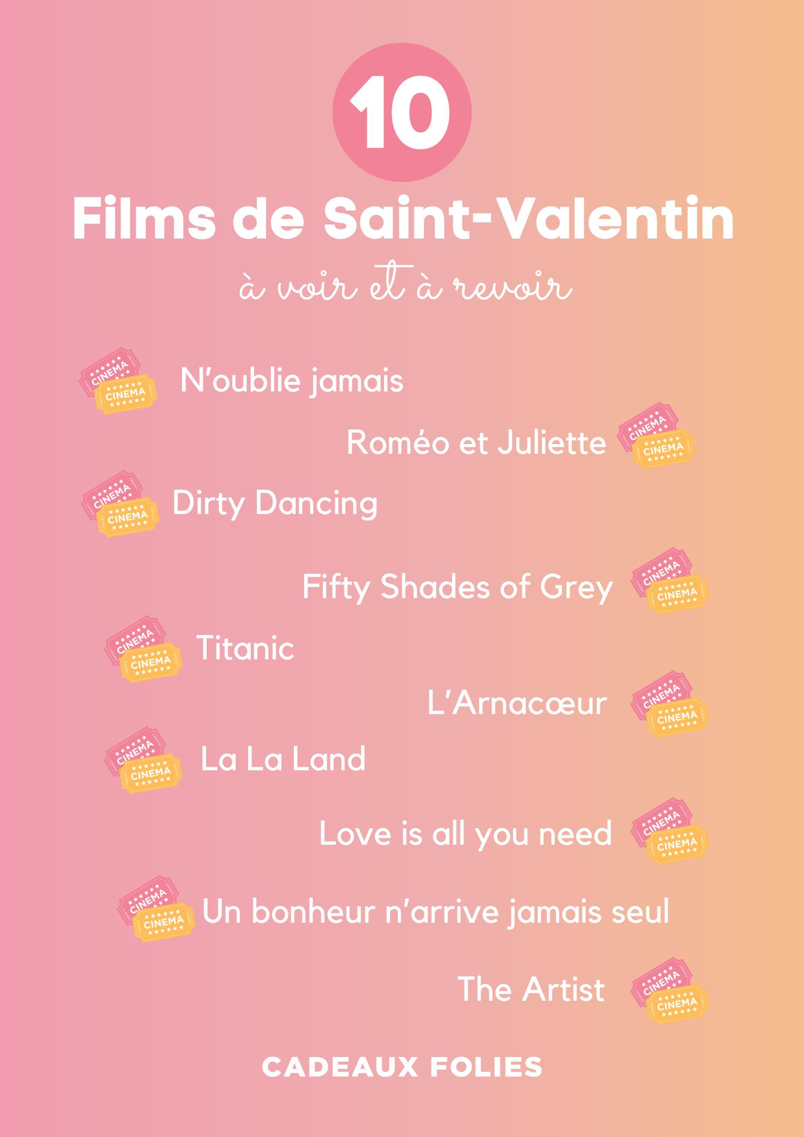 Films de Saint-Valentin à voir et à revoir