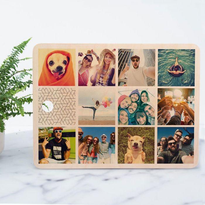 cadeau écologique planche à découper personnalisable avec 11 images