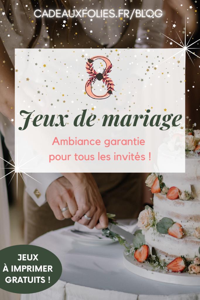 jeux de mariage cadeau mariage cadeaux folies 13