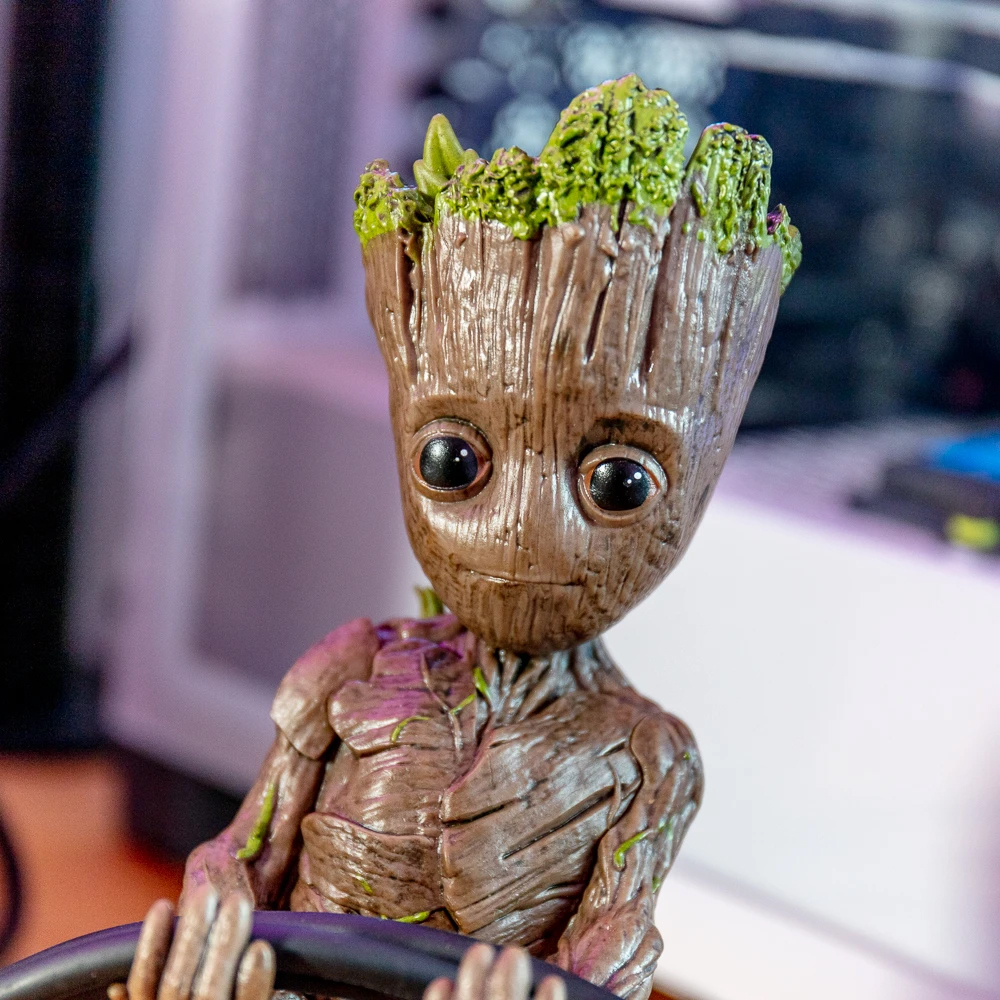 Support pour smartphone et manette Groot