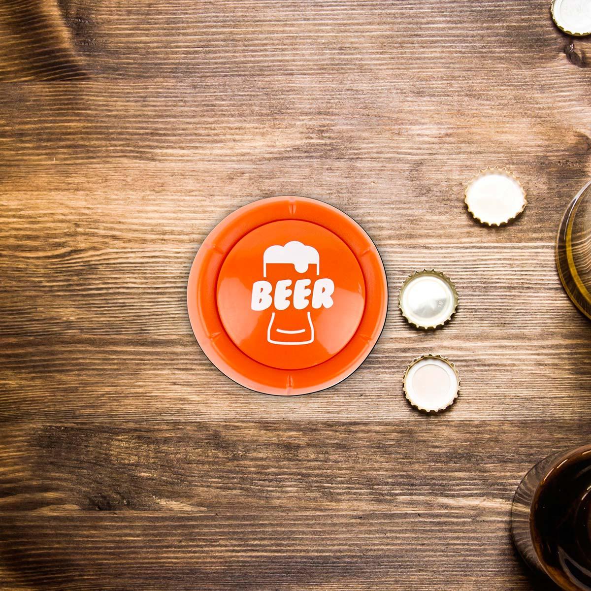 Bouton d'urgence Bière
