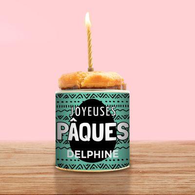 Cancake Joyeuses Paques avec Texte