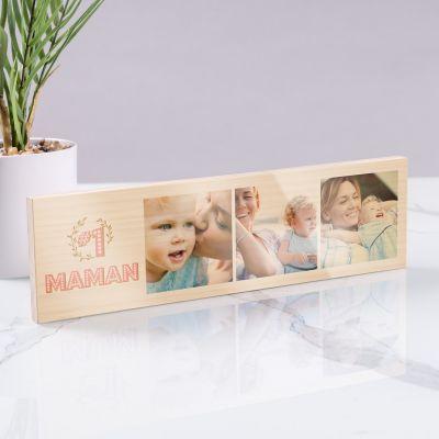 Photo sur bois horizontale n° 1 Maman