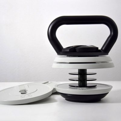 Set de kettlebells avec poids réglable