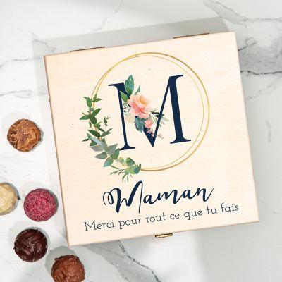 Boîte de Chocolats Monogramme avec Texte