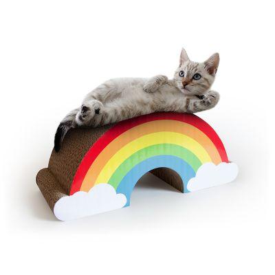 Griffoir arc-en-ciel pour chats