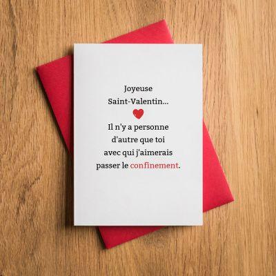 Carte de Saint-Valentin Spéciale Confinement