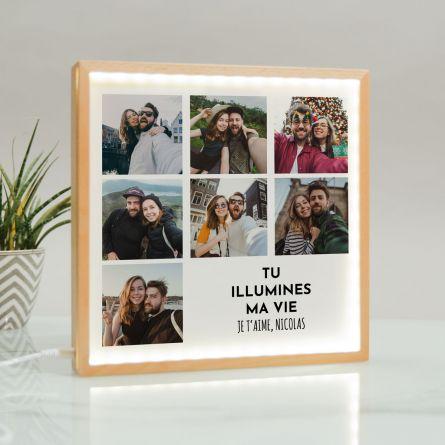 Light Box Cadre Lumineux avec 7 photos et texte