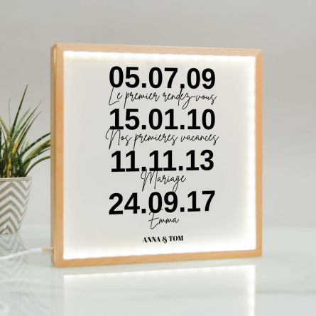 Light Box Cadre lumineux Dates Importantes