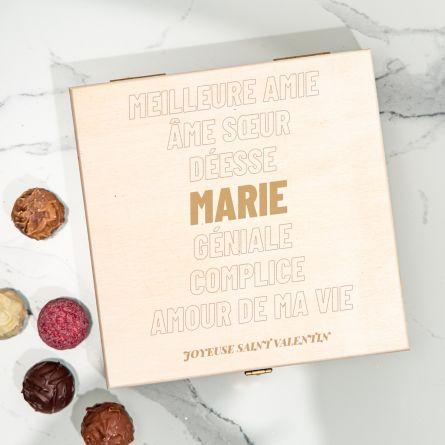 Boîte de Chocolats avec Texte
