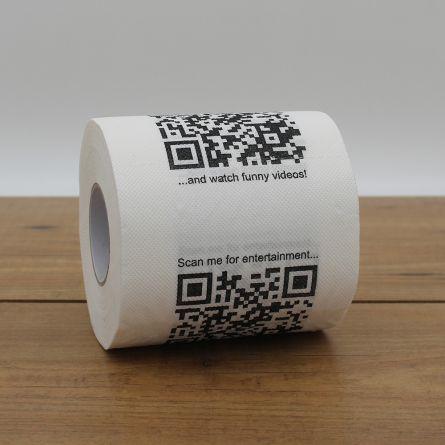 Papier Toilette avec QR Codes