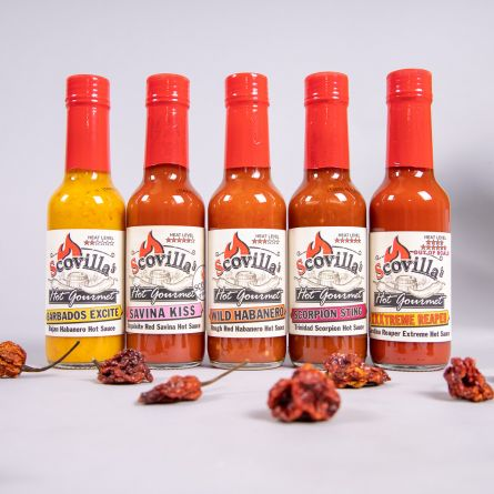 Sauces Scovilla Hot Gourmet au Piment