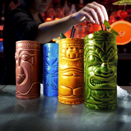 Set de 4 verres à cocktail Tiki