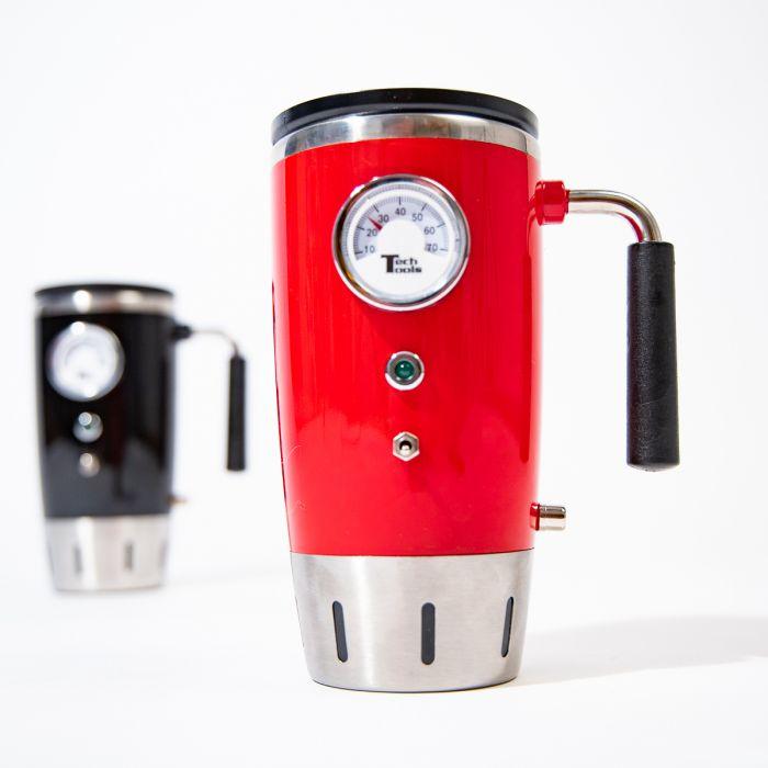 Thermos rétro qui affiche la température
