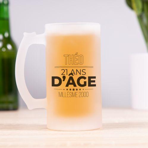 Chope de bière anniversaire