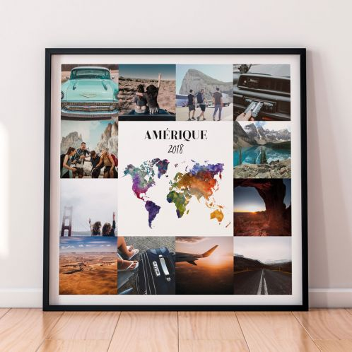 Poster Voyage Personnalisable - 12 Images