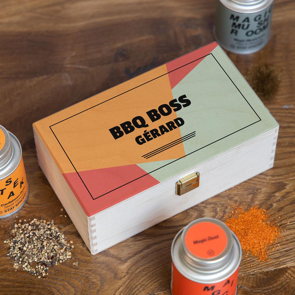 Boîte à épices avec Texte