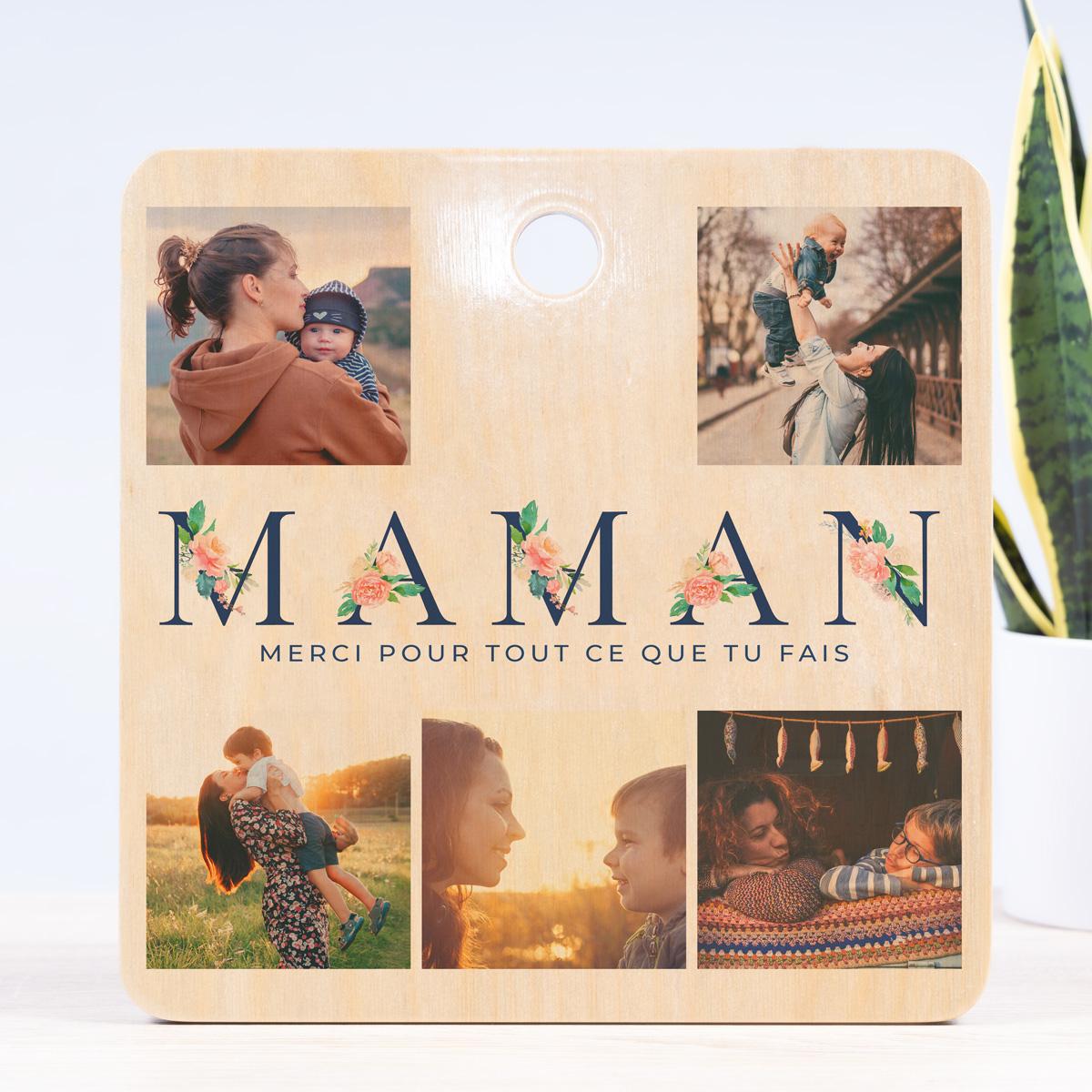 Planche à Découper Spéciale Maman 5 photos et texte