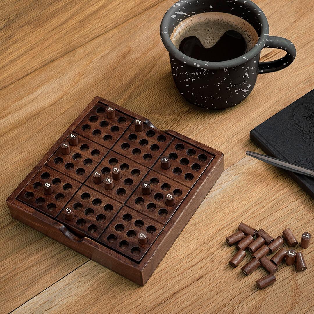 Puzzle Sudoku en bois