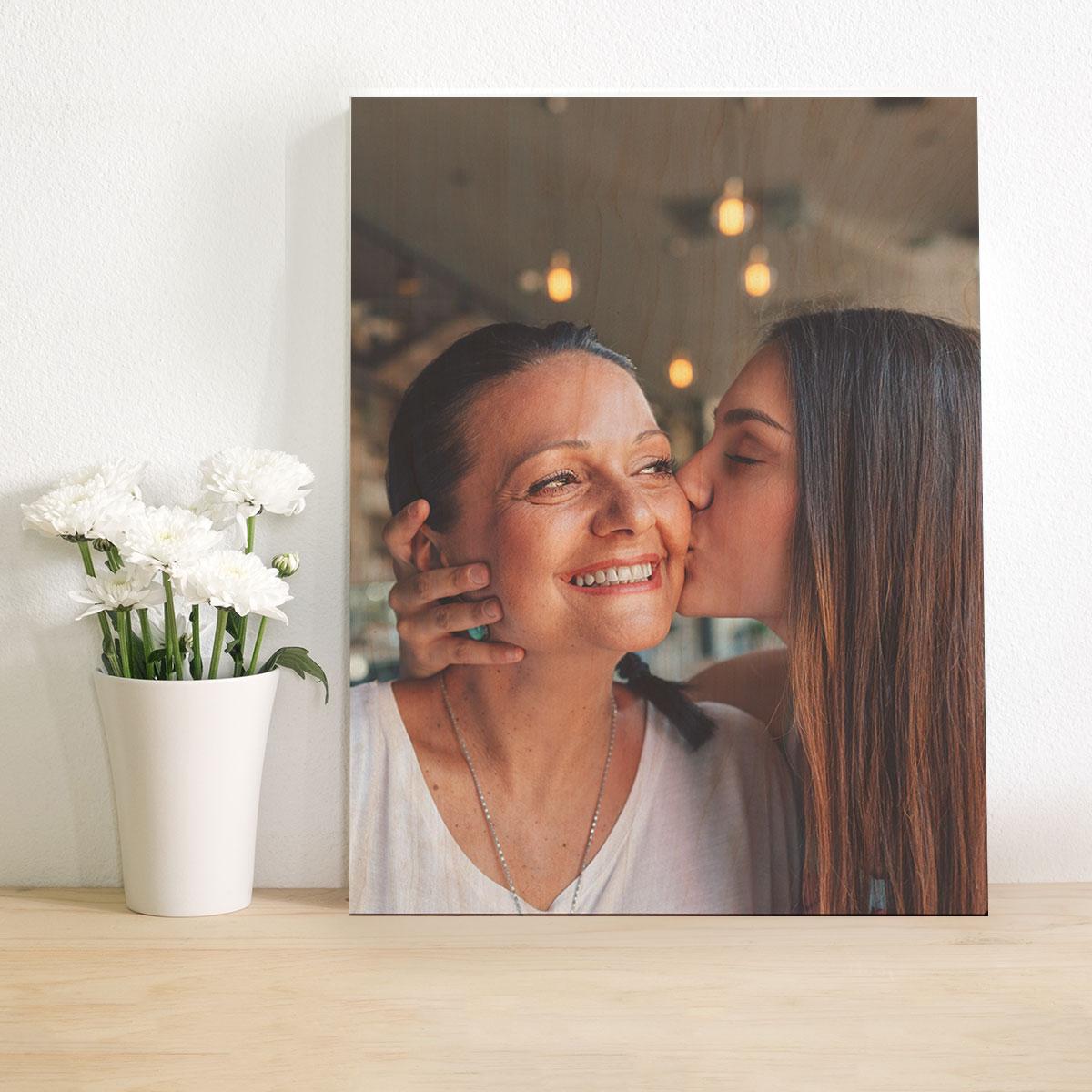 cadeau maman Photo Personnalisable sur Bois
