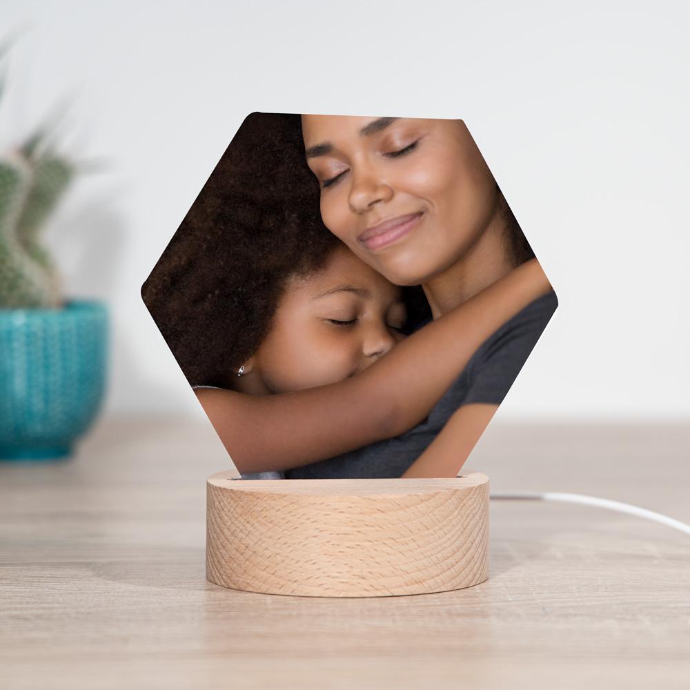 cadeau maman Lampe LED avec photo