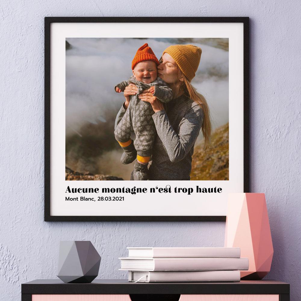 cadeau maman Poster avec Photo et Texte