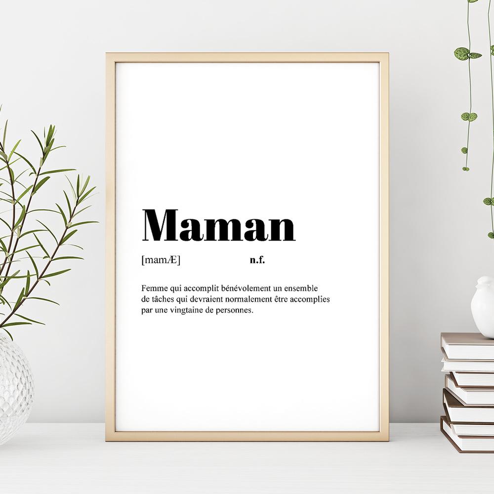 cadeau maman Poster Personnalisable Définition