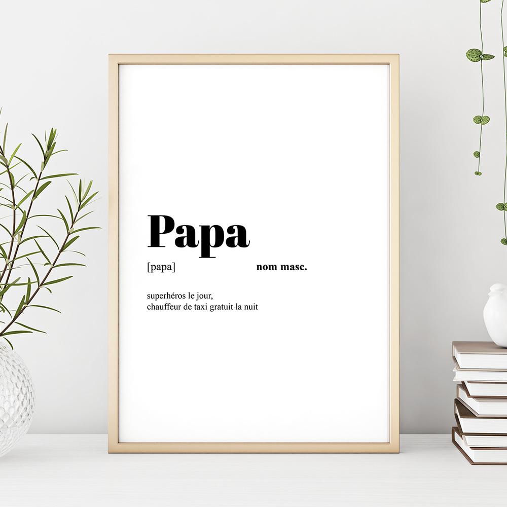 cadeau papa Poster Personnalisable Définition